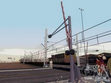 FERROVIÁRIA atravessando RUS V 2.0 para GTA San Andreas segunda tela