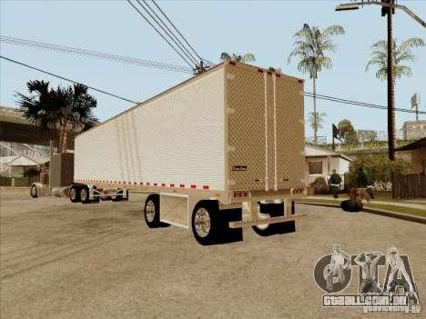 Reboque, Custom Peterbilt 379 para GTA San Andreas vista traseira