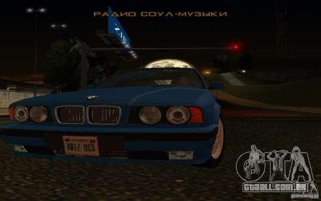 BMW 525 E34 V.3 para GTA San Andreas vista traseira