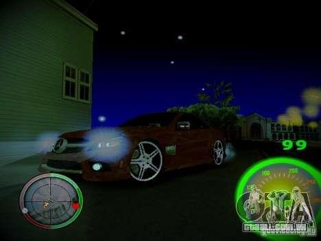 Velocímetro por Centrale para GTA San Andreas por diante tela