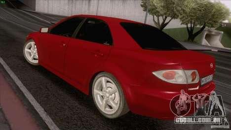 Mazda 6 2006 para GTA San Andreas vista traseira