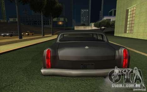 Civilian Cabbie para GTA San Andreas traseira esquerda vista