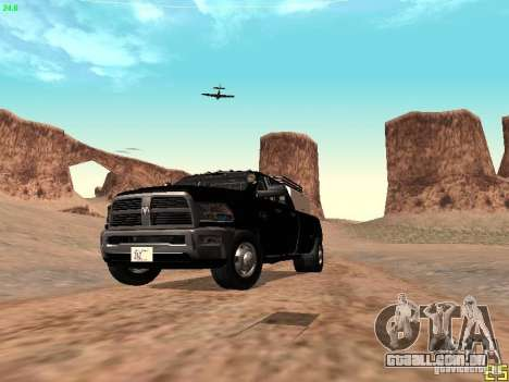 Dodge Ram 3500 Unmarked para GTA San Andreas vista superior