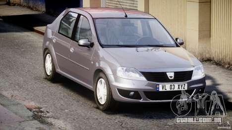 Dacia Logan v1.0 para GTA 4 vista interior