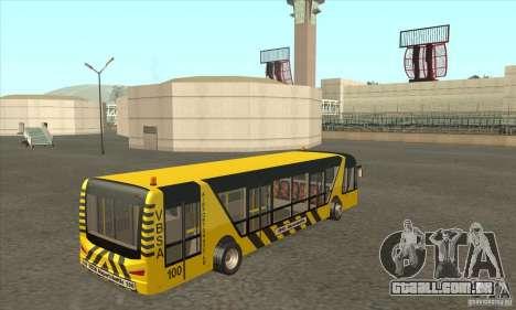 Ônibus para o aeroporto para GTA San Andreas vista direita