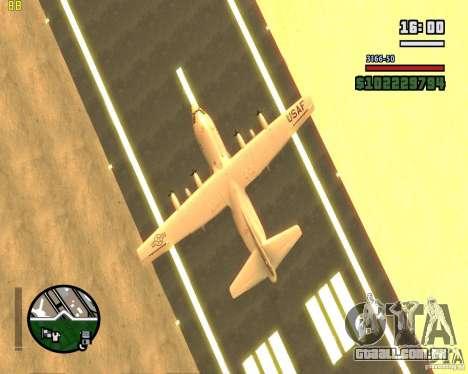 C-130 hercules para GTA San Andreas vista interior