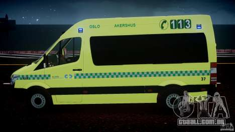 Mercedes-Benz Sprinter PK731 Ambulance [ELS] para GTA 4 interior