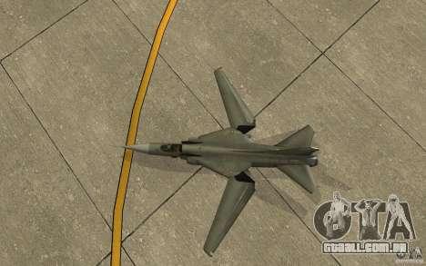 MiG-23 para baixo o Flogger para GTA San Andreas vista traseira