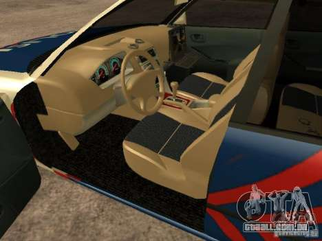 Mitsubishi Galant Police Indanesia para GTA San Andreas traseira esquerda vista