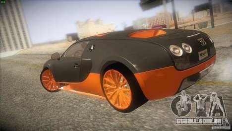 Bugatti Veyron Super Sport para GTA San Andreas vista direita