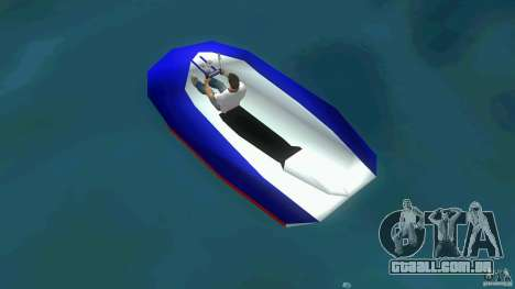 Speedboat dinghy para GTA Vice City vista traseira esquerda