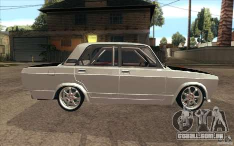 Drift Vaz Lada 2107 para GTA San Andreas vista interior