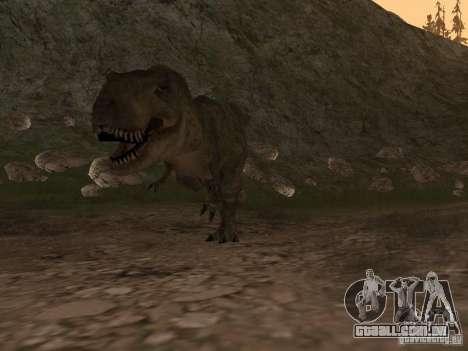 Dinosaurs Attack mod para GTA San Andreas terceira tela