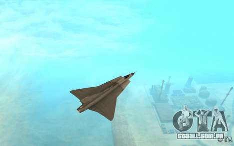 Saab J-35 Draken para GTA San Andreas traseira esquerda vista