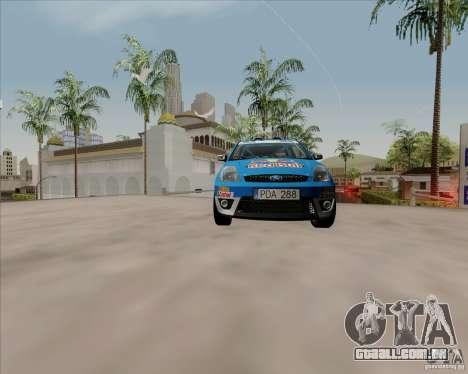 Ford Fiesta ST Rally para GTA San Andreas vista traseira