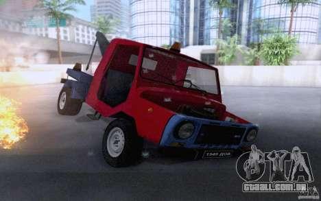 Caminhão de reboque de LuAZ 13021 para vista lateral GTA San Andreas