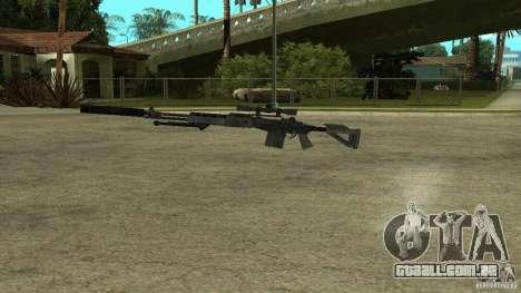 EBR MK14 com silenciador para GTA San Andreas terceira tela