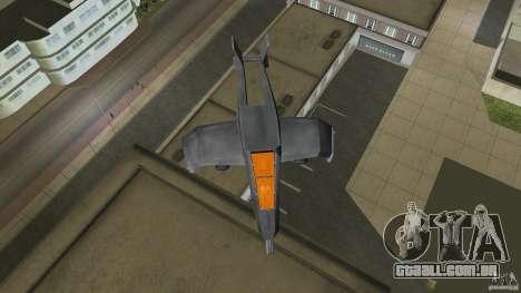 X-304 Gunship para GTA Vice City deixou vista