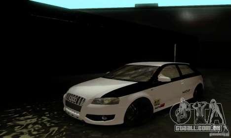 Audi S3 para GTA San Andreas interior