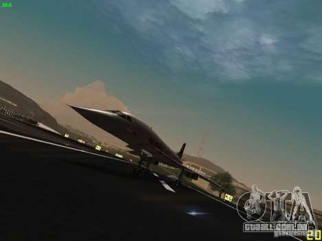 Aerospatiale-BAC Concorde Air France para GTA San Andreas esquerda vista