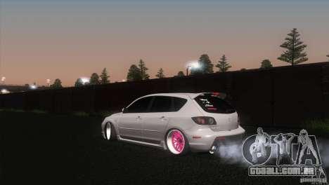 Mazda MazdaSpeed 3 para GTA San Andreas esquerda vista