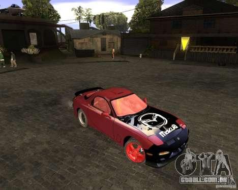 Mazda RX-7 Drifter para GTA San Andreas esquerda vista