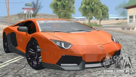 Lamborghini Aventador LP700-4 2012 para GTA San Andreas vista inferior