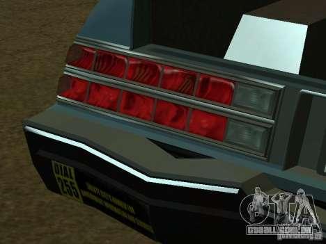 O táxi de romanos de GTA4 para GTA San Andreas interior