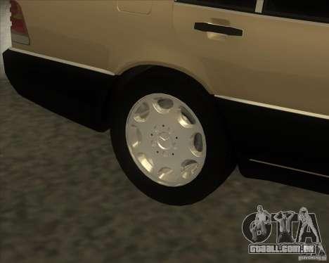 Mercedes Benz 400 SE W140 (Wheels style 2) para GTA San Andreas vista direita