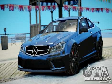 Mercedes-Benz C63 AMG Black Series 2012 v1.0 para GTA 4 esquerda vista