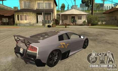 Lamborghini Murcielago LP 670 SV para GTA San Andreas vista direita