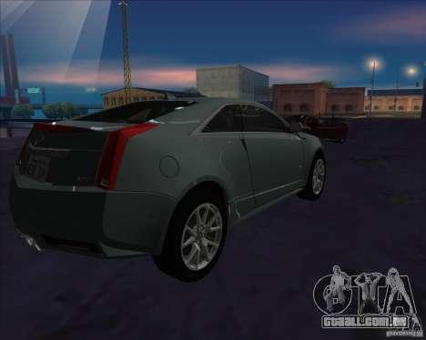 Cadillac CTS-V para GTA San Andreas esquerda vista