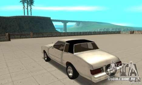 Chevrolet Monte Carlo 1976 para GTA San Andreas traseira esquerda vista