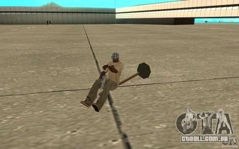 Flying Broom para GTA San Andreas esquerda vista