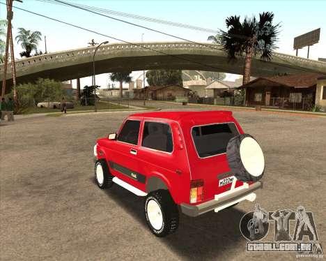 VAZ 21213 4 x 4 para GTA San Andreas interior