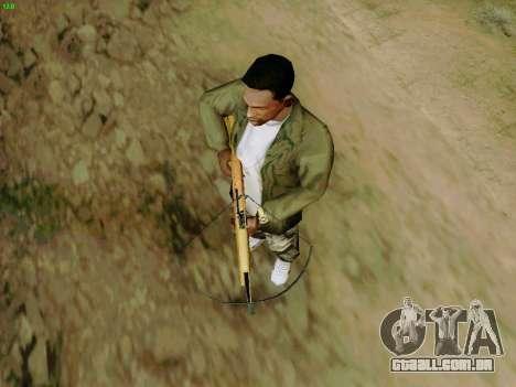 Uma besta de trabalho com as setas para GTA San Andreas quinto tela
