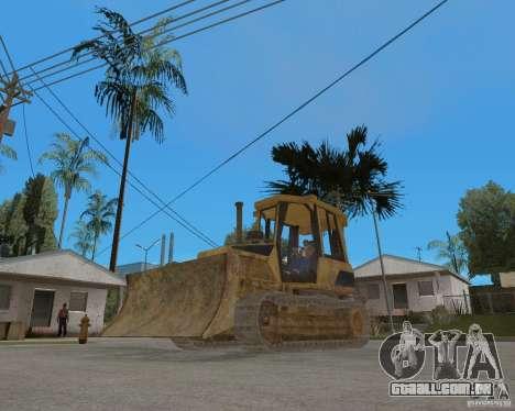 Bulldozer de COD 4 MW para GTA San Andreas vista direita