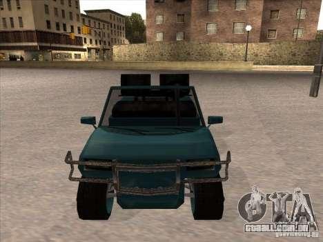 Small Cabrio para GTA San Andreas traseira esquerda vista