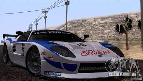 Ford GT Matech GT3 Series para GTA San Andreas esquerda vista