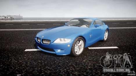 BMW Z4 Coupe v1.0 para GTA 4 vista de volta