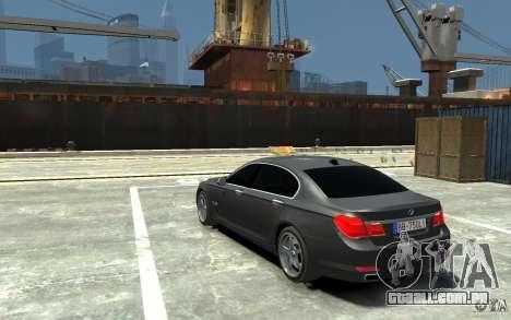 Bmw 750 LI v1.0 para GTA 4 traseira esquerda vista