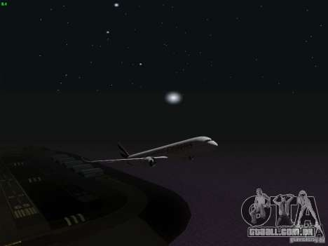 Airbus A350-900 Emirates para GTA San Andreas vista inferior