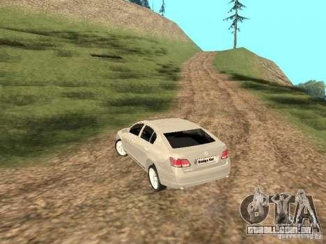 Lexus GS-350 para GTA San Andreas traseira esquerda vista