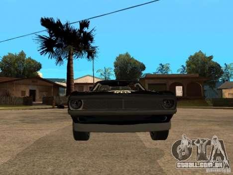 Plymouth Hemi Cuda Rogue Speed para GTA San Andreas vista direita