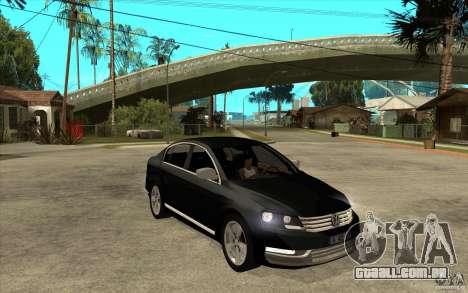 Volkswagen Passat 2.0 TDI Bluemotion 2011 para GTA San Andreas vista traseira