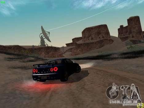 Nissan Skyline GT-R R34 V-Spec para GTA San Andreas vista traseira