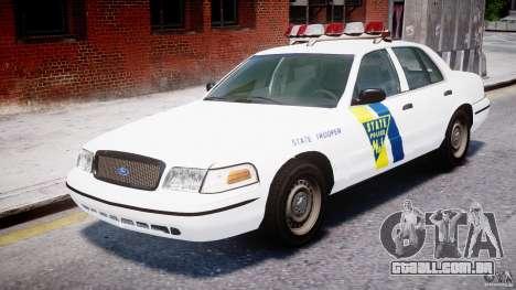 Ford Crown Victoria New Jersey State Police para GTA 4 esquerda vista