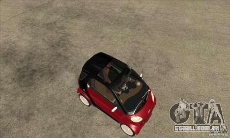 Smart para GTA San Andreas vista traseira