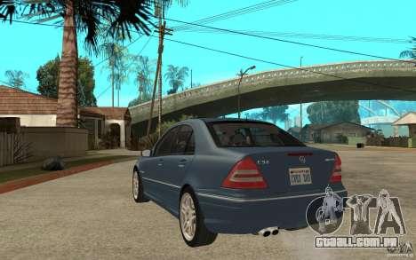 Mercedes-Benz C32 AMG 2003 para GTA San Andreas traseira esquerda vista