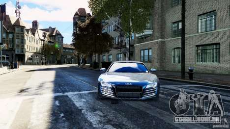 Audi R8 Spider 2011 para GTA 4 vista direita
